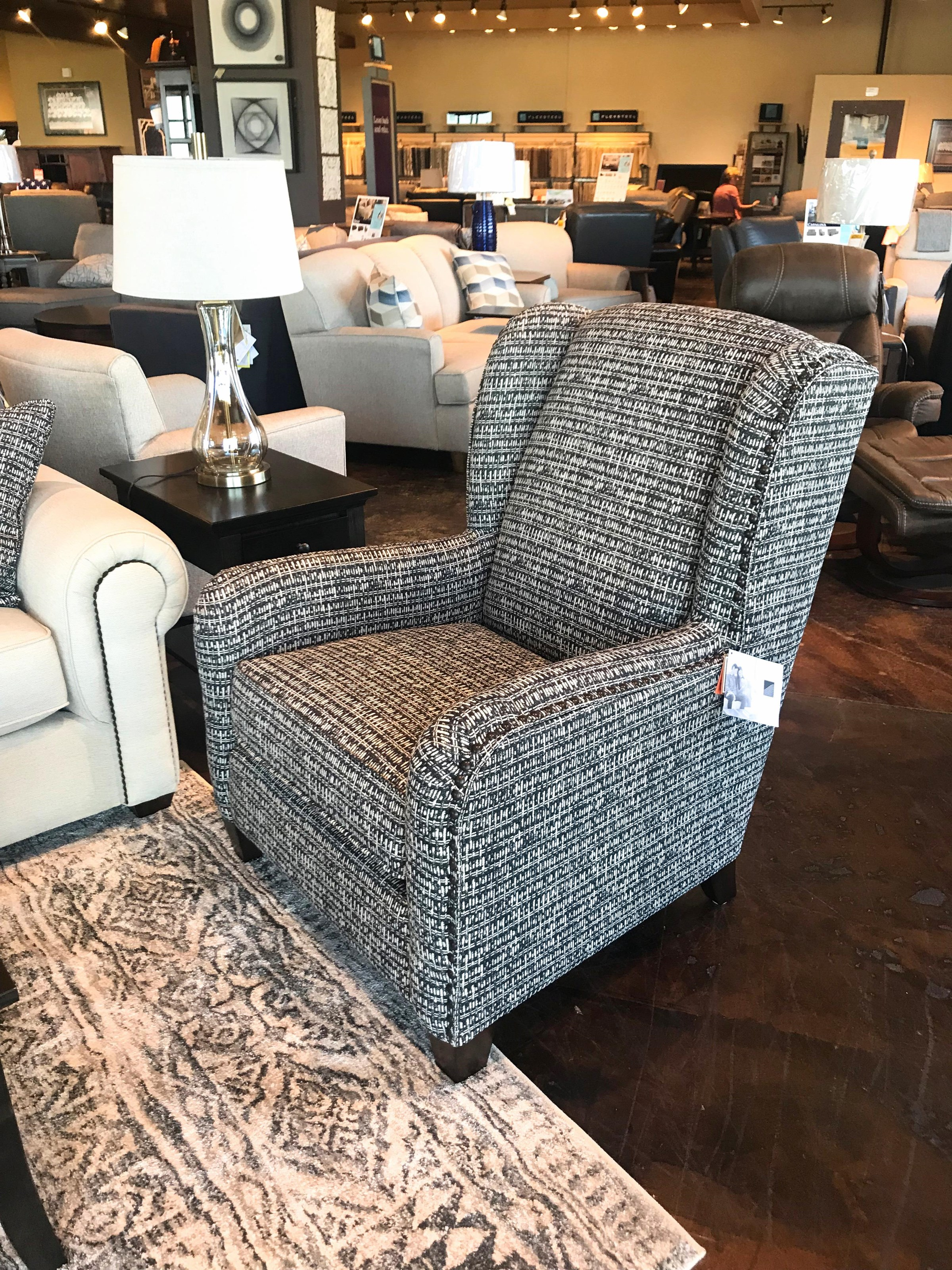 Accents Perth Chair and Ottoman by Flexsteel at Mueller Furniture