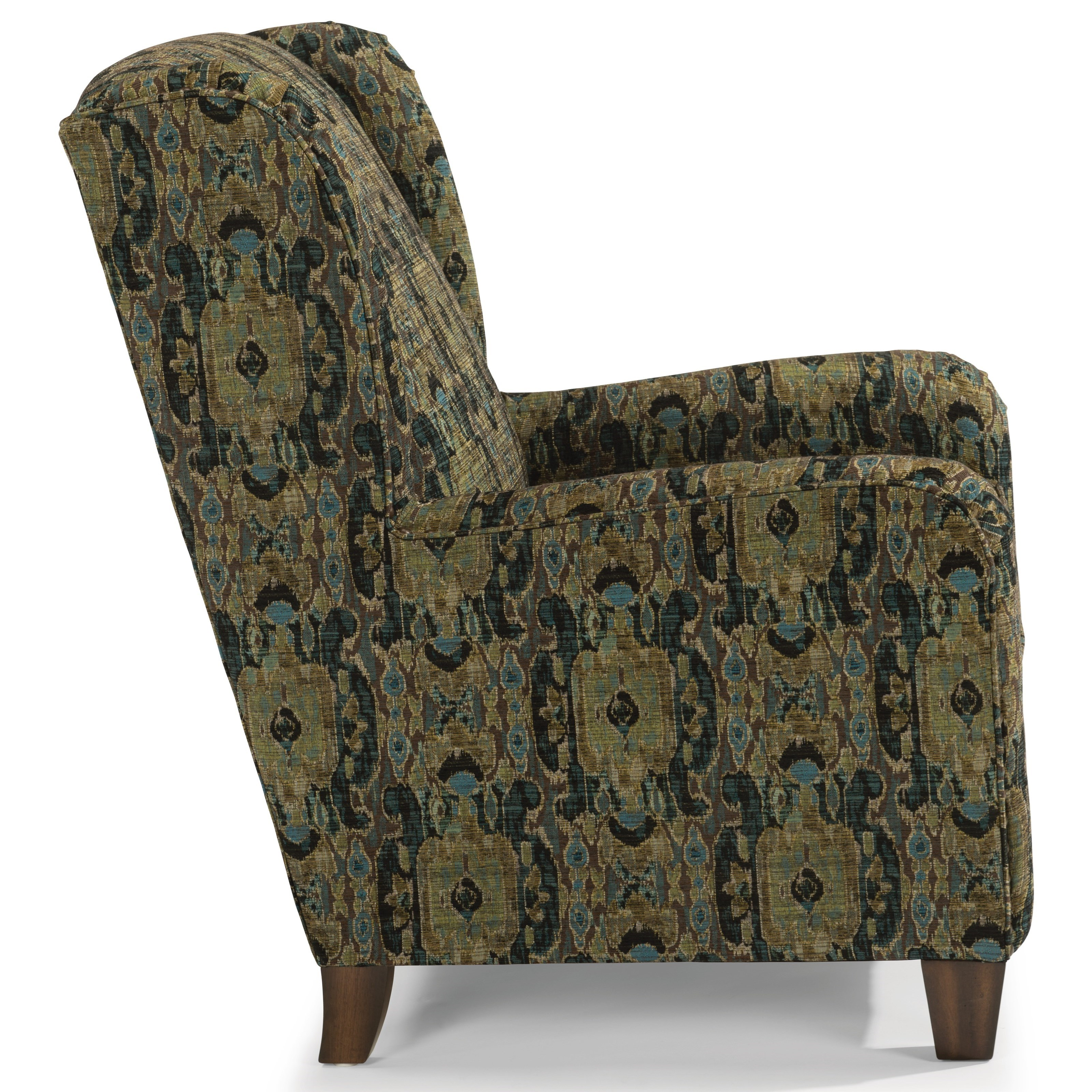 Flexsteel Accents Perth Wing Chair with Nailhead Border ...