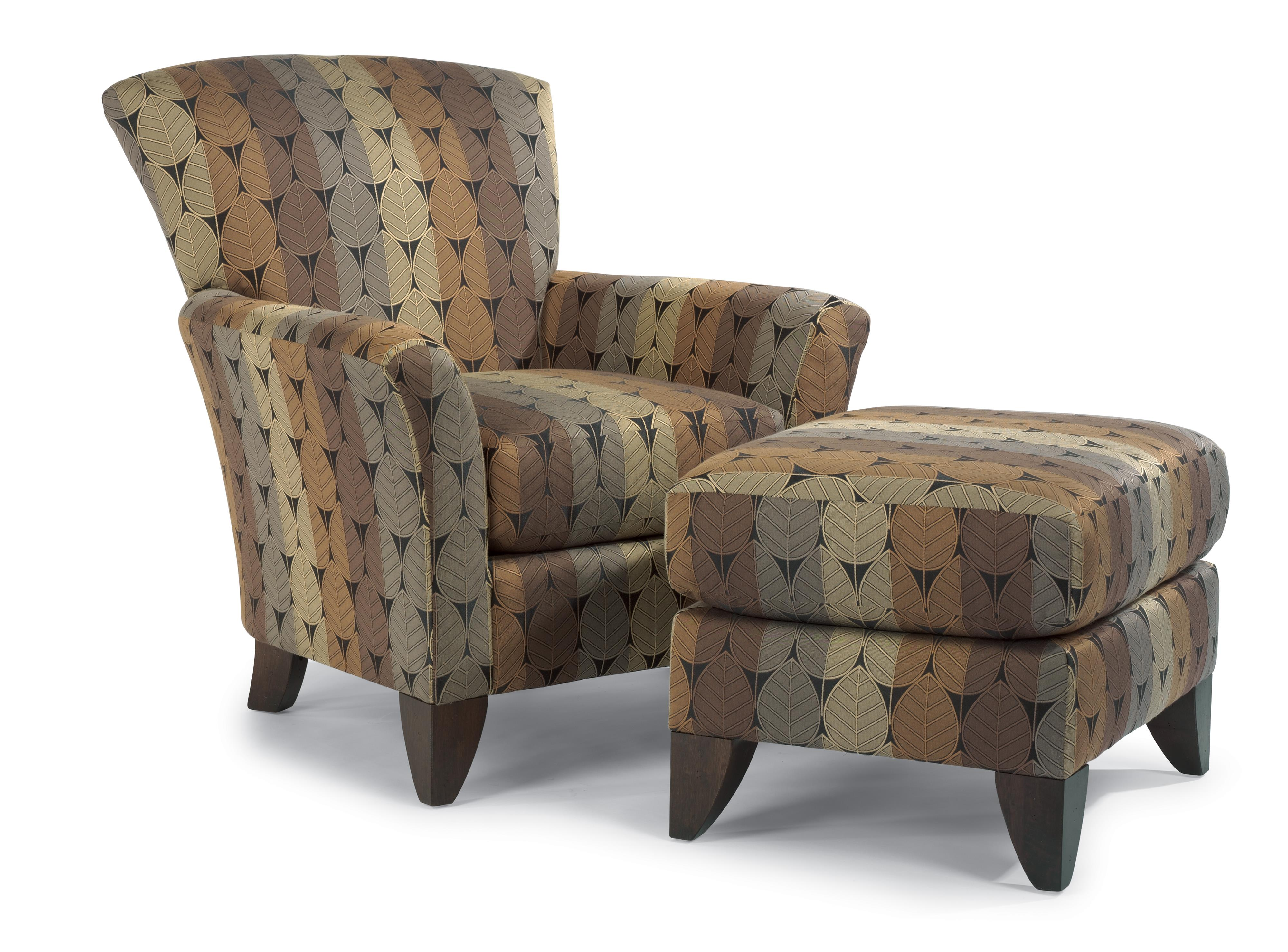Flexsteel Accents Chair & Ottoman Set - Item Number: 030C-10+030C-08