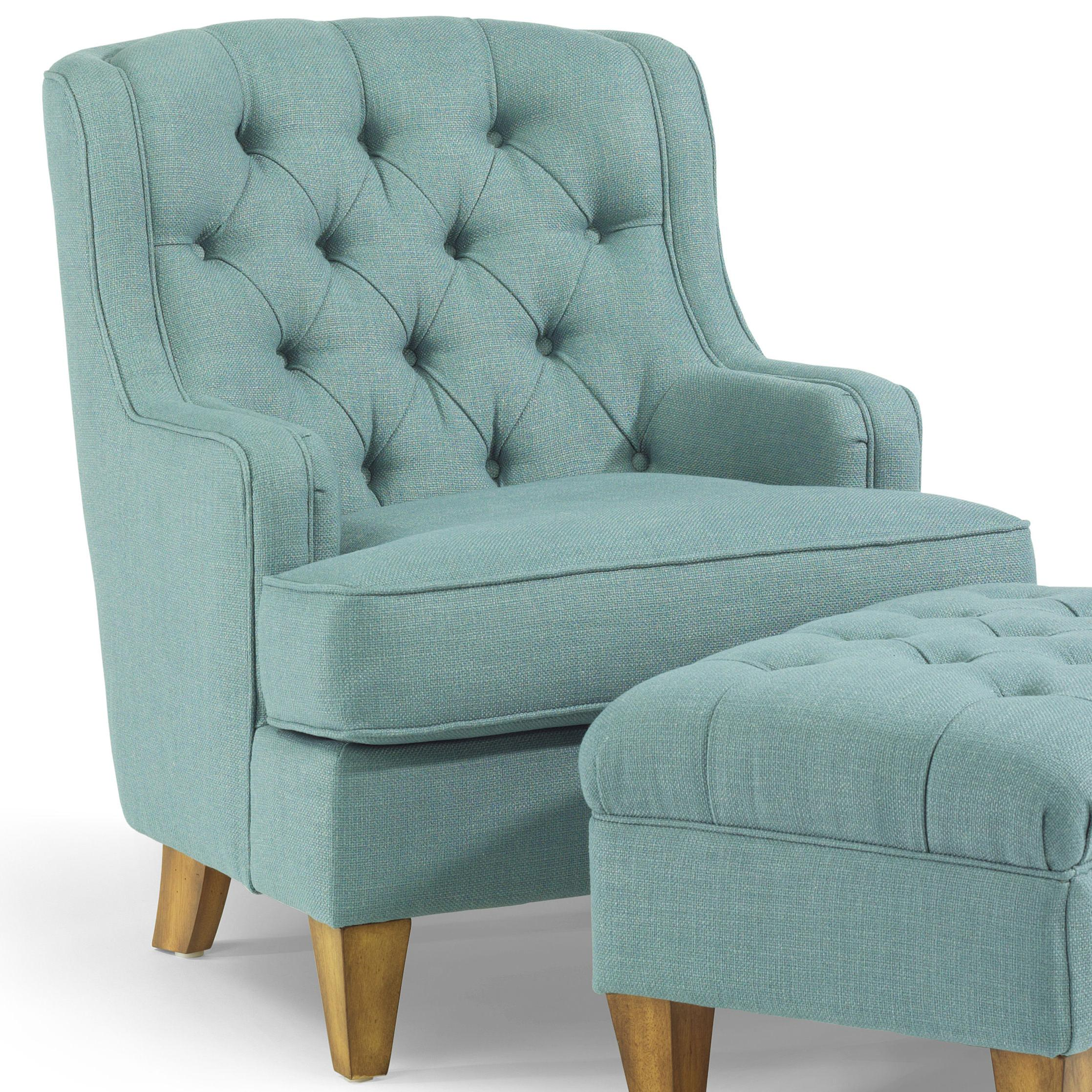 Flexsteel Accents Terrace Button Tufted Chair with Track Arms