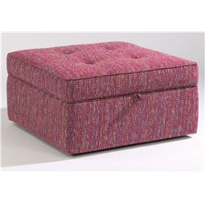 Flexsteel Accents Square Storage Ottoman