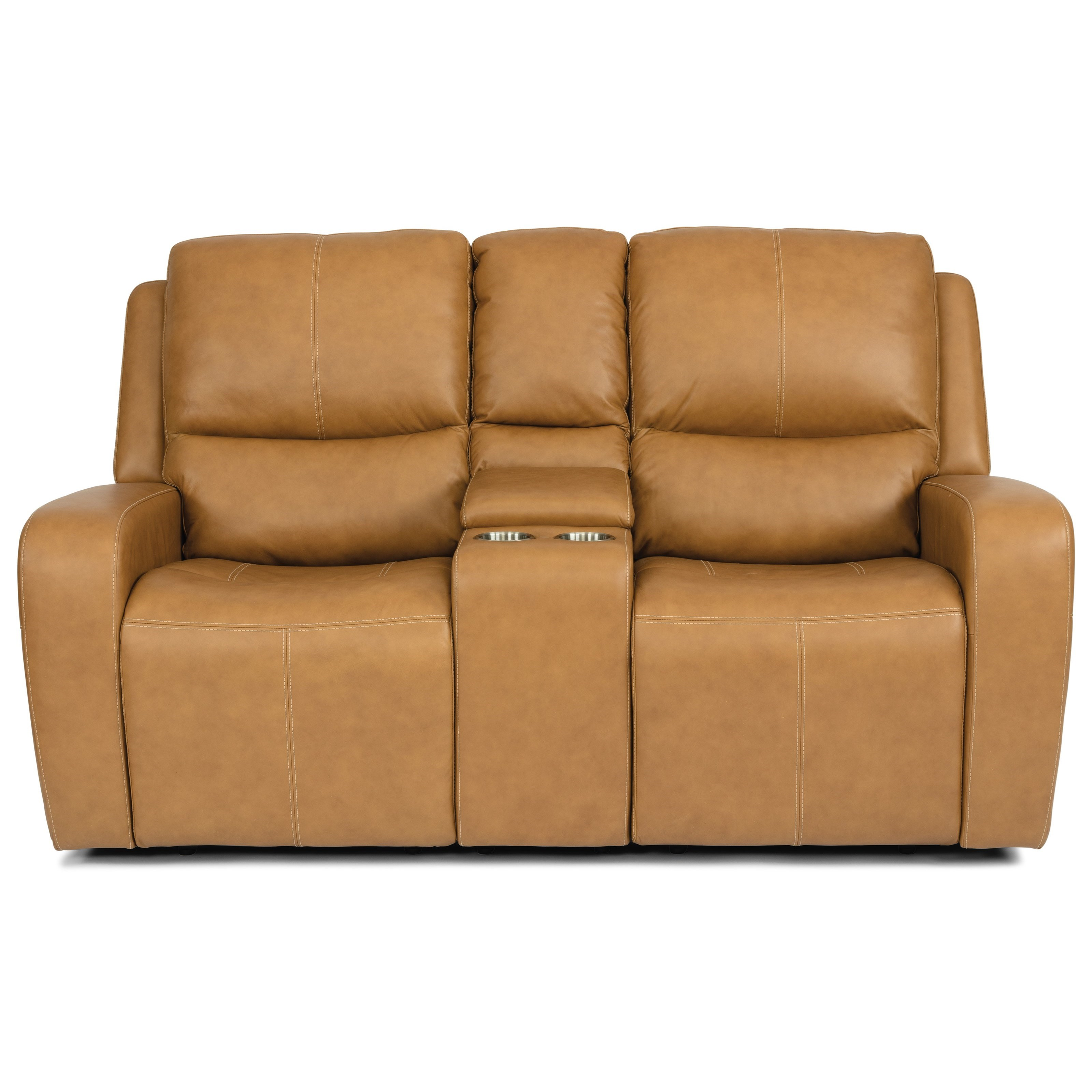 Latitudes - Aiden Power Reclining Console Loveseat by Flexsteel at Steger's Furniture