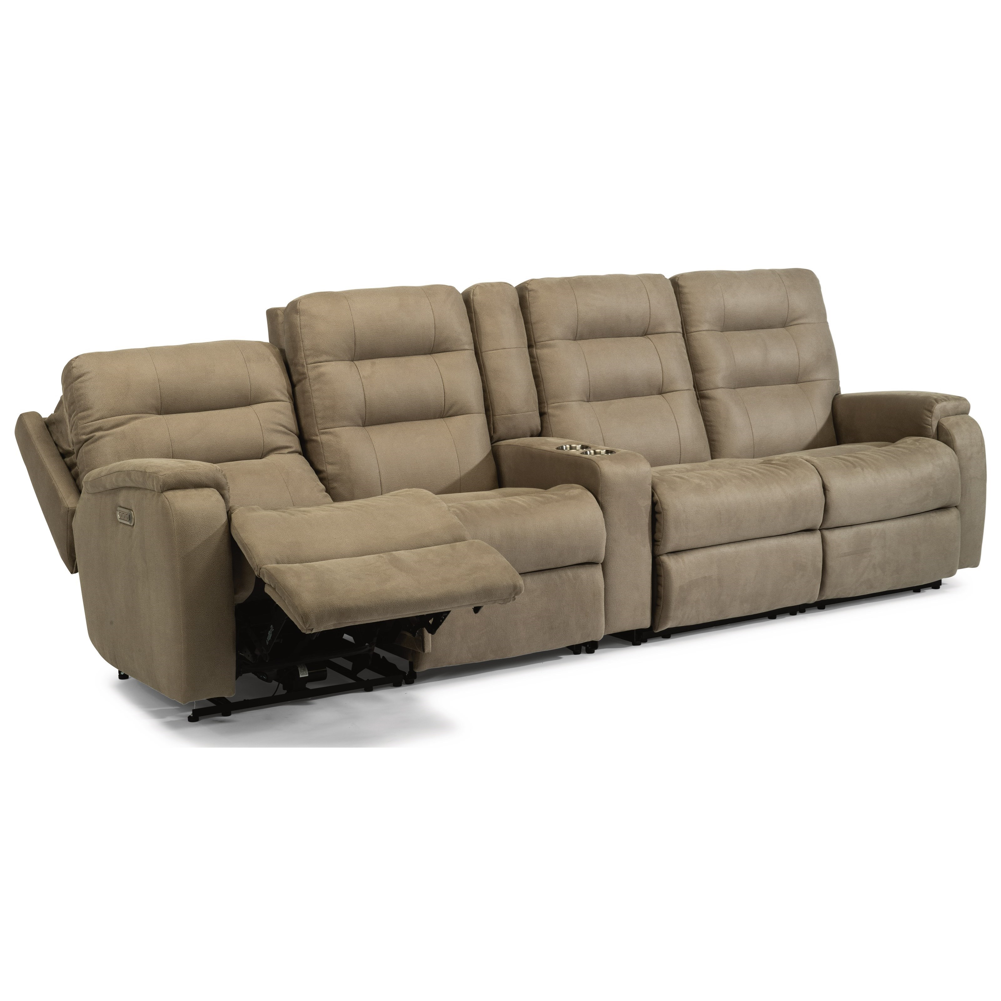 Arlo 5-Pc Pwr Headrest & Lumbar Rec Sectional by Flexsteel at Rooms and Rest