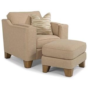 Flexsteel Arrow Chair and Ottoman