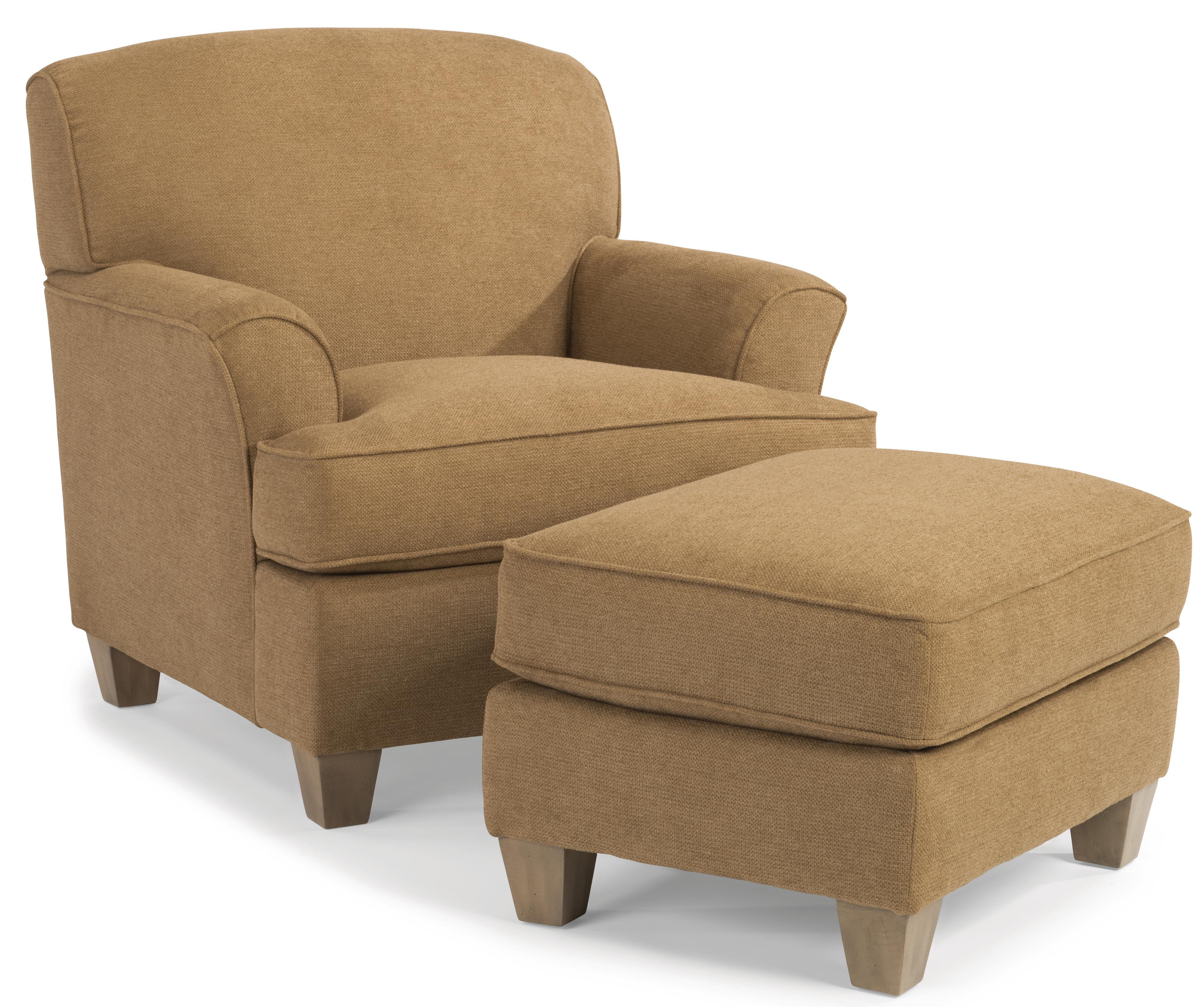 Flexsteel Atlantis Chair and Ottoman - Item Number: 5713-10-922-72+08-922-72