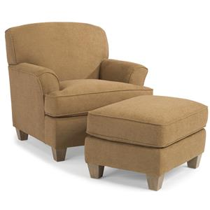 Flexsteel Atlantis Chair and Ottoman
