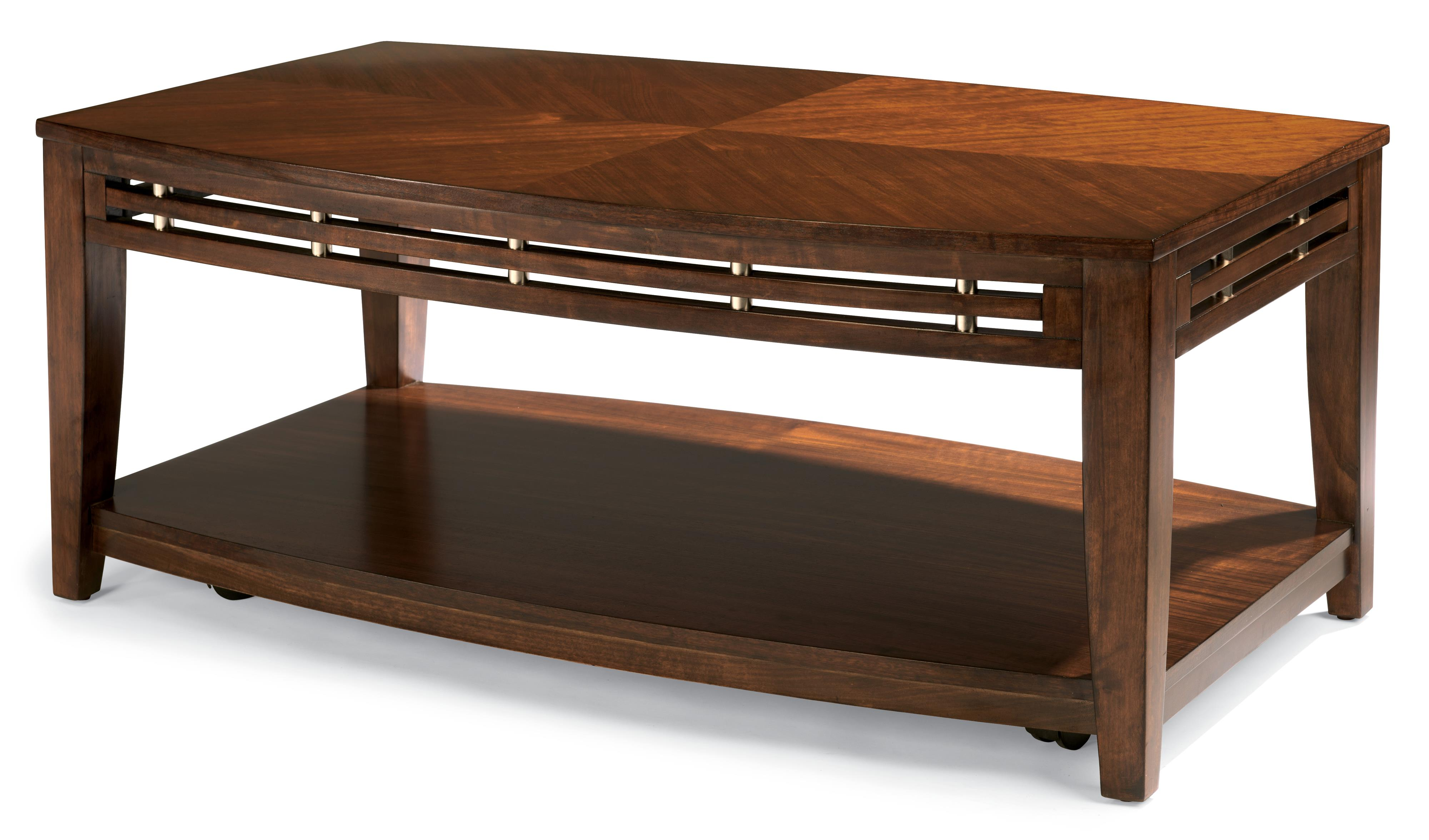 Flexsteel Bali Rect Cocktail Table w/ casters - Item Number: W1409-0311