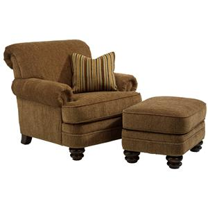 Flexsteel Bay Bridge Chair & Ottoman Set