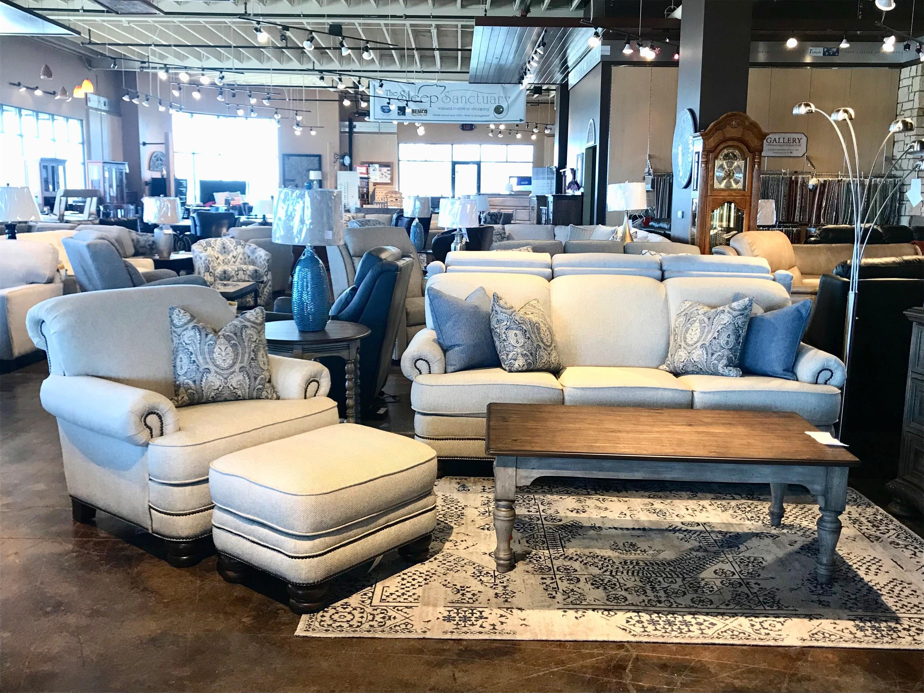 Bay Bridge Chair & Ottoman Set by Flexsteel at Mueller Furniture
