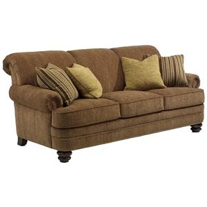 Flexsteel Bay Bridge Traditional Rolled Back Sofa Wayside Furniture Sofas