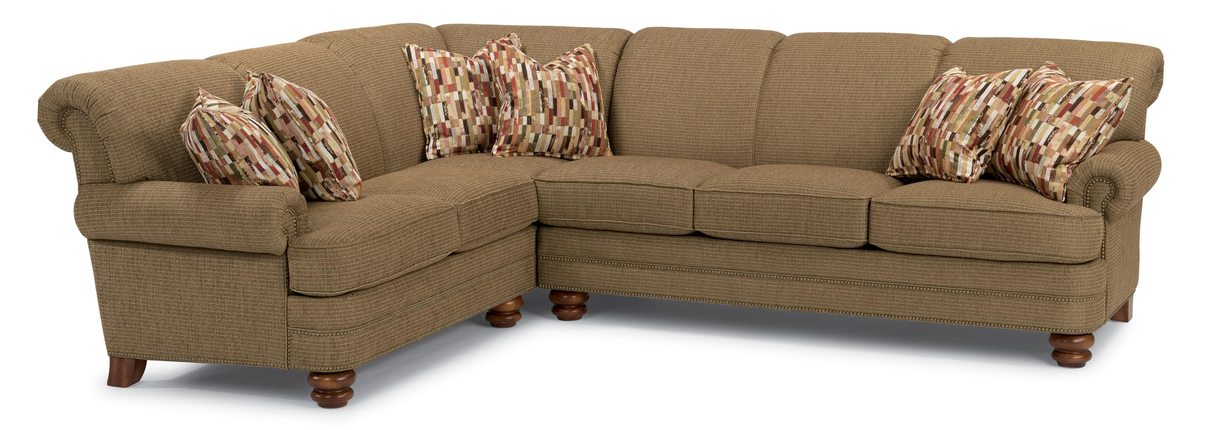 Flexsteel Bay Bridge 2 Pc Sectional Sofa - Item Number: 7791-33+7791-38-805-90