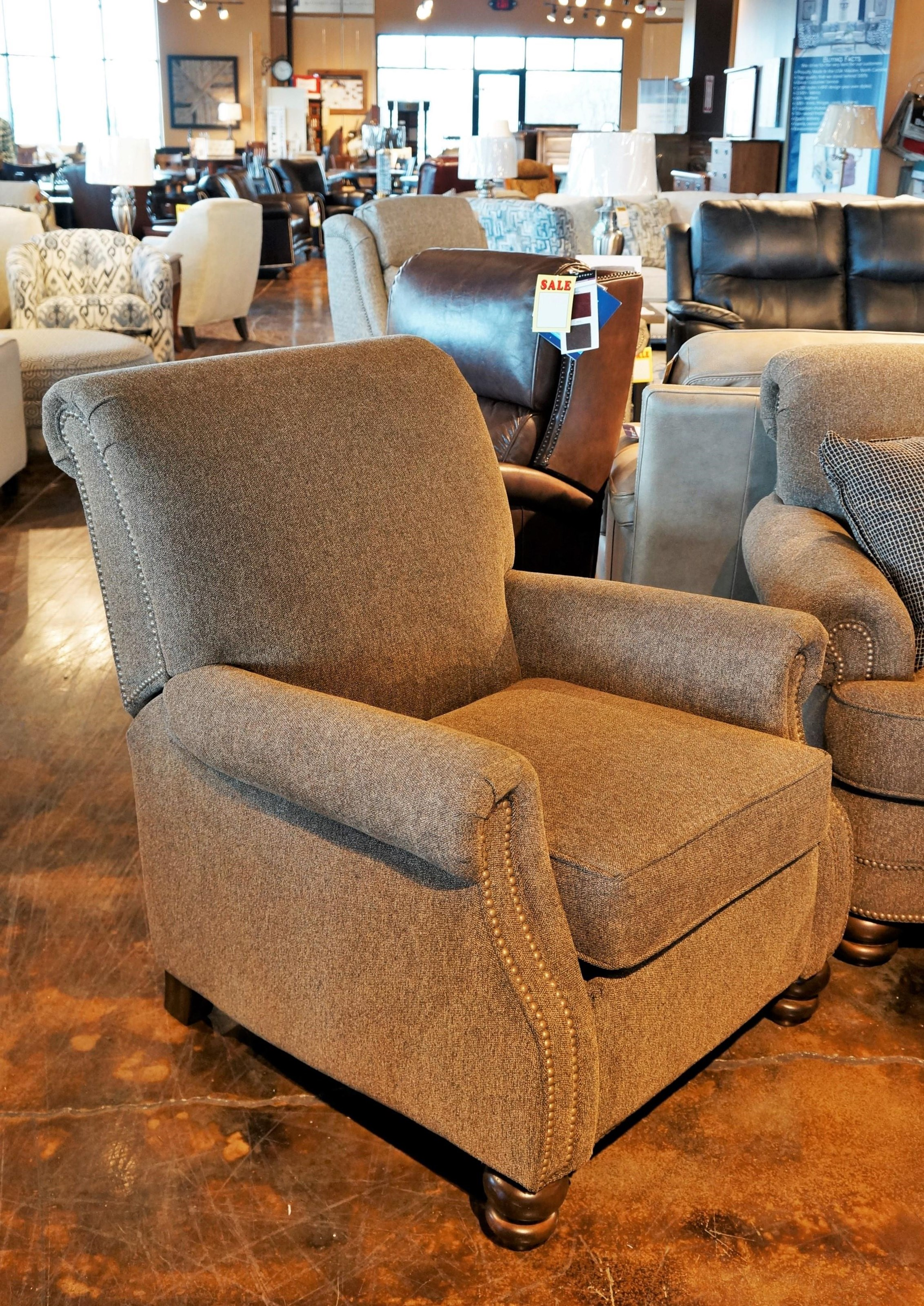 Bay Bridge Power High Leg Recliner by Flexsteel at Mueller Furniture