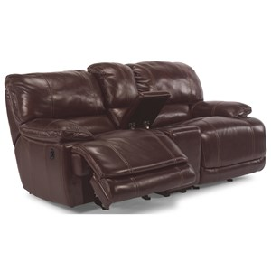 Flexsteel Latitudes - Belmont Gliding Reclining Love Seat with Console