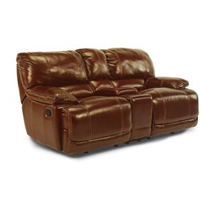 Flexsteel Latitudes - Belmont Power Dual Reclining Love Seat with Console