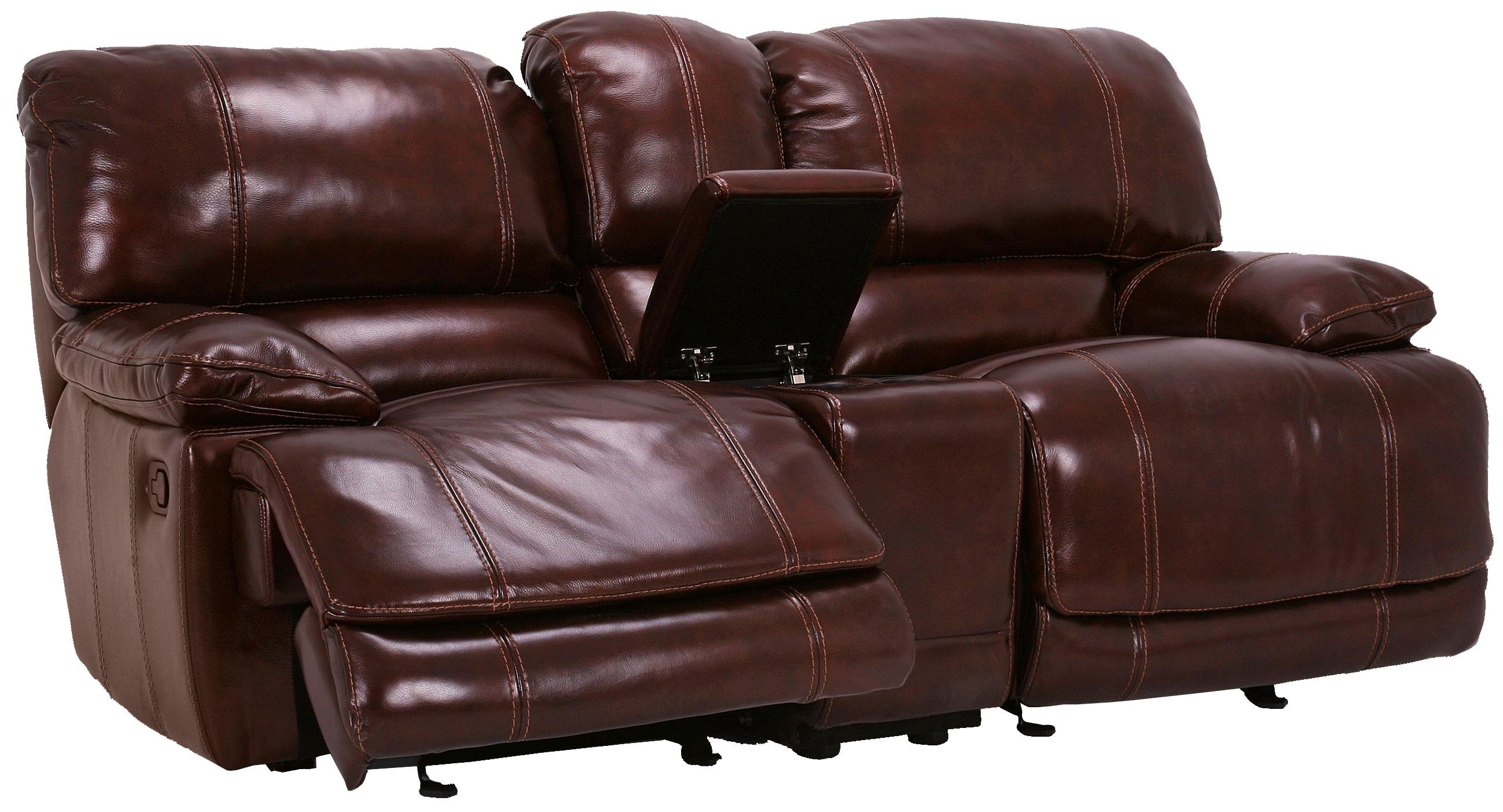 Flexsteel Latitudes - Belmont Gliding Reclining Love Seat with Console - Item Number: 1250-604