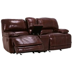 Flexsteel Latitudes - Belmont POWER Reclining Leather Love w/ Console