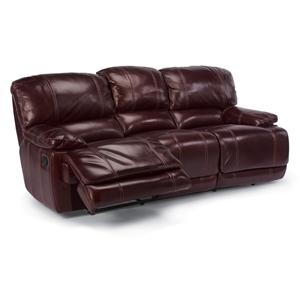 Flexsteel Latitudes - Belmont POWER Reclining Leather Sofa