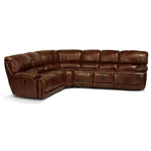 Flexsteel Latitudes - Belmont 4 Pc Power Reclining Sectional Sofa