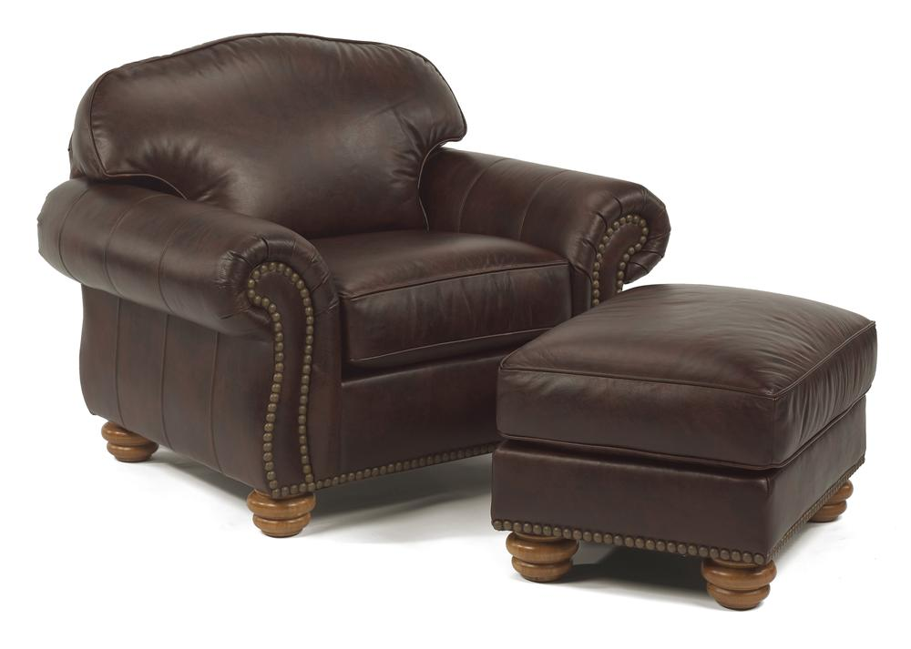 Flexsteel Bexley Chair and Ottoman - Item Number: 3648-10+3648-08