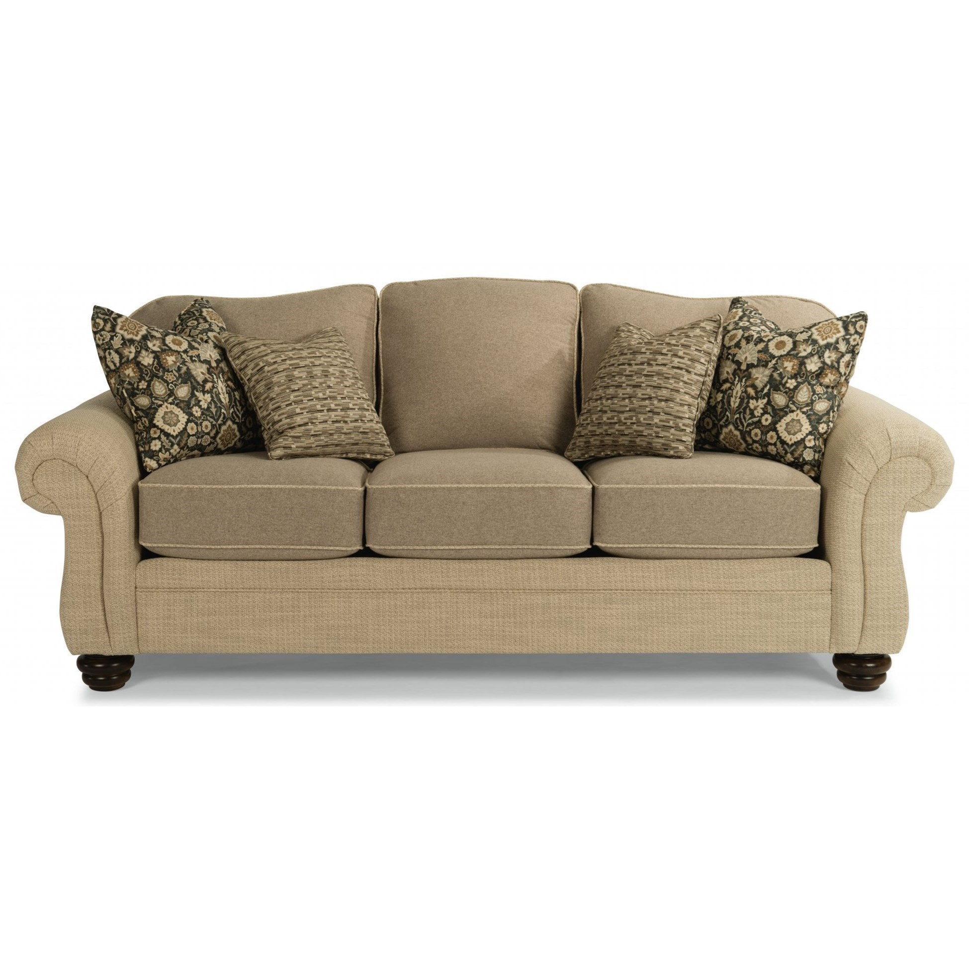 Bexley Sofa w/ Nails  by Flexsteel at Jordan's Home Furnishings
