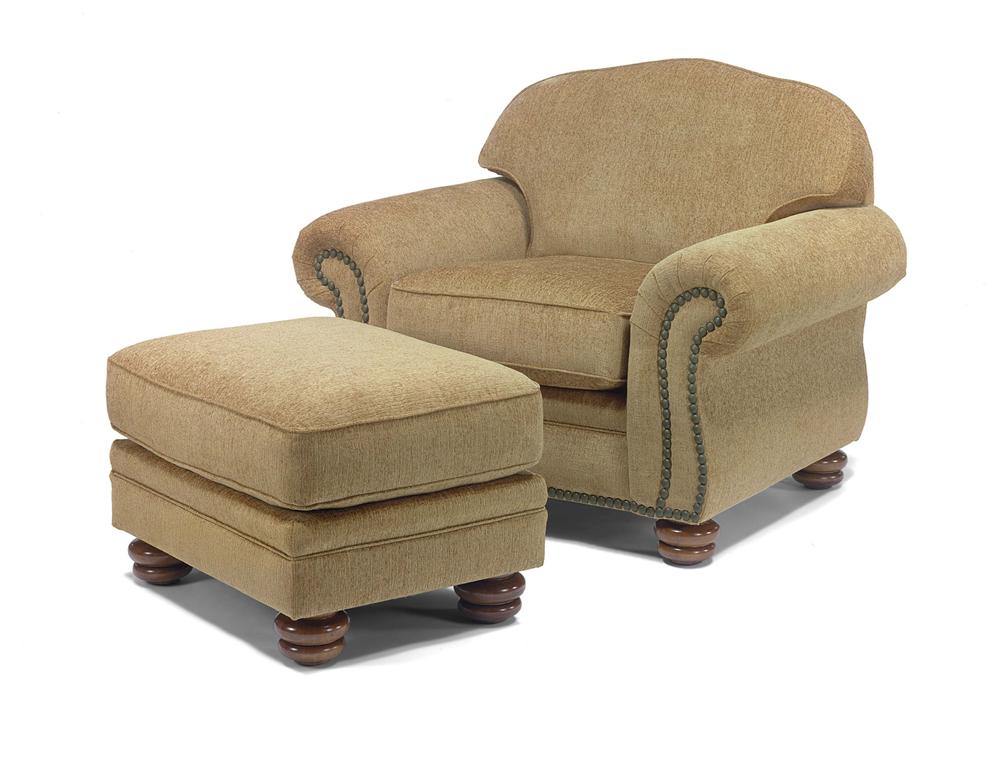 Bexley Chair and Ottoman by Flexsteel at Jordan's Home Furnishings