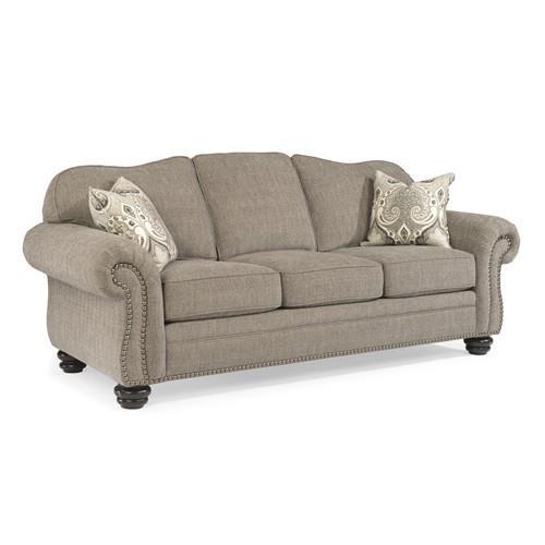 Flexsteel Furniture Uk: Flexsteel Bexley 8648-31 Gray Traditional Sofa With Nail