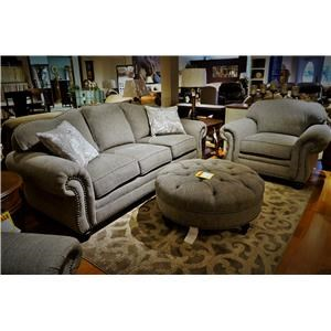Traditional Sofa with Nail Head Trim