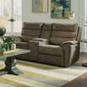 Flexsteel Latitudes - Brooklyn Reclining Gliding Console Loveseat - Item Number: 1875-604-720-70