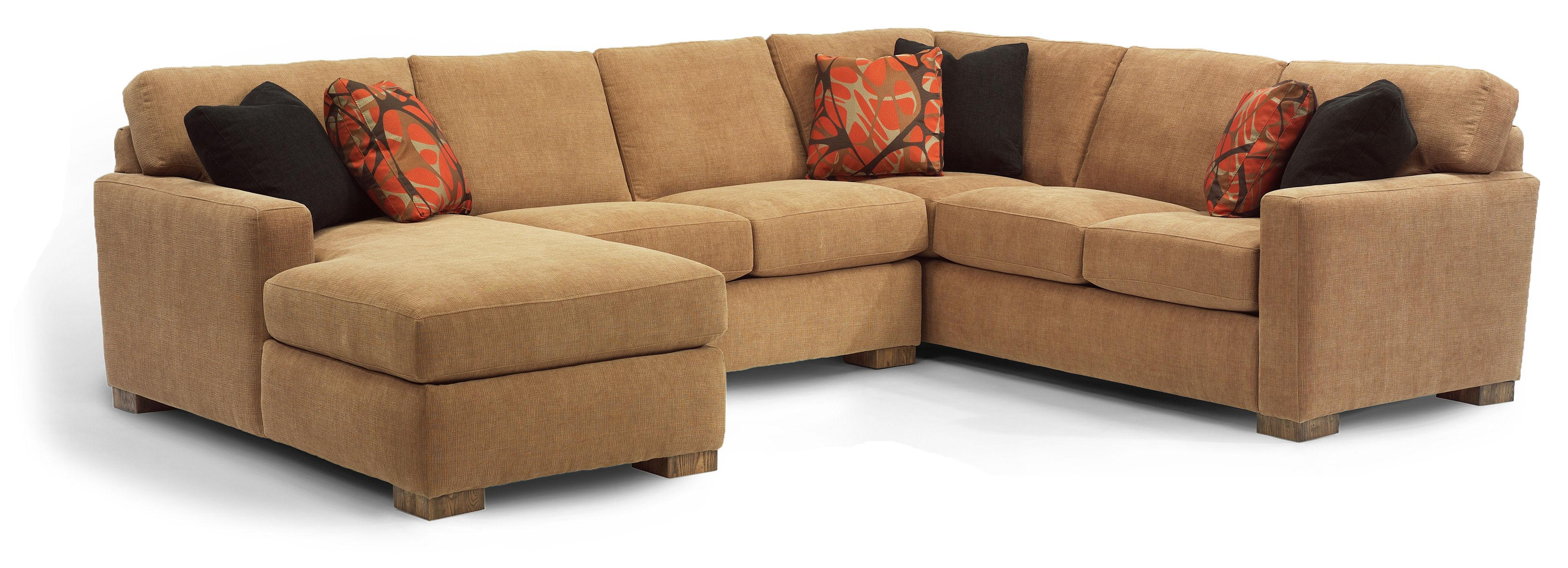 Flexsteel Bryant Sectional Sofa - Item Number: 7399-25+29+34