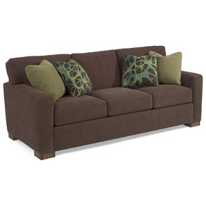 Contemporary Sofa with Loose Pillow Back