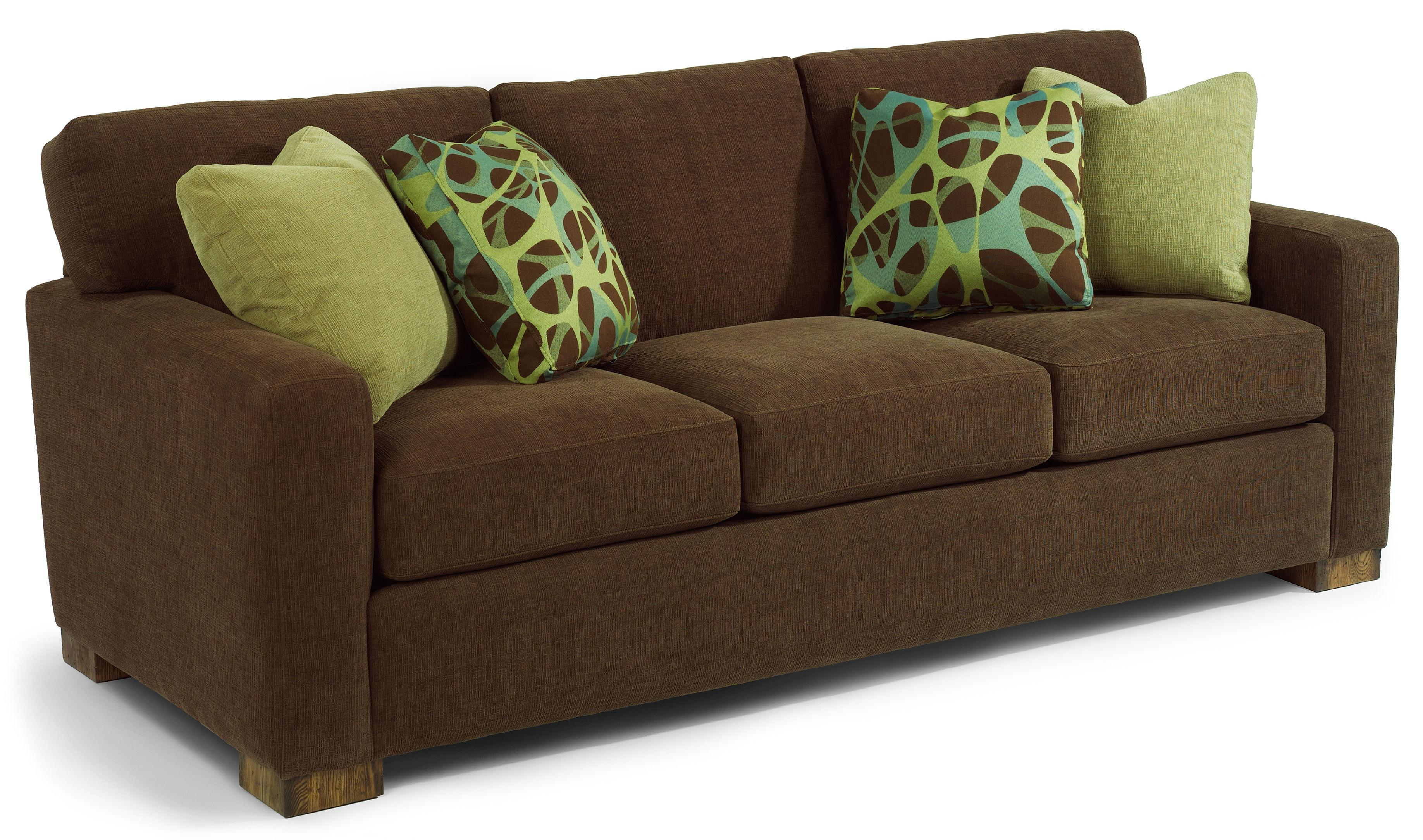 Flexsteel Bryant Contemporary Sofa With Track Arms