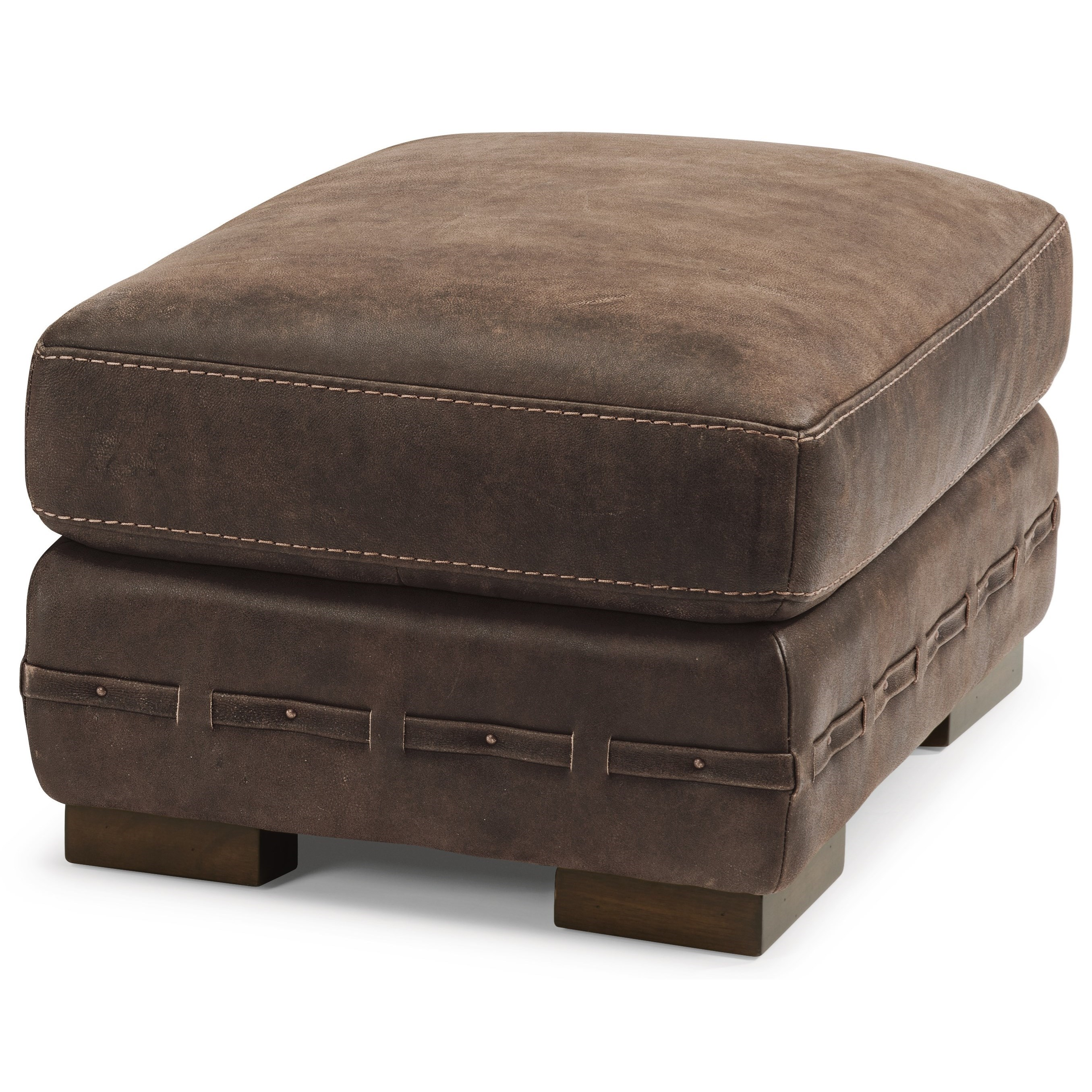 Flexsteel Latitudes Buxton Contemporary Leather Ottoman