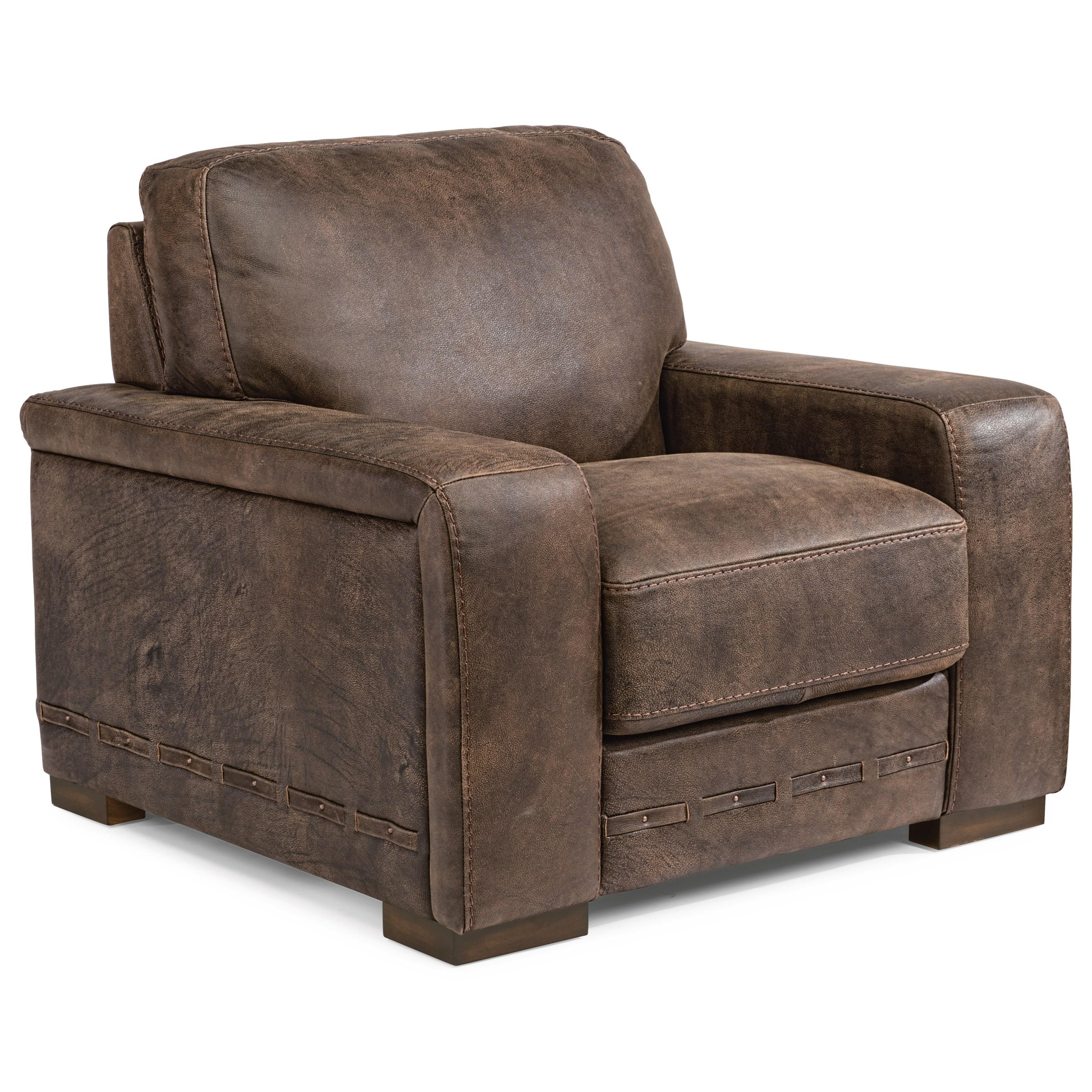Flexsteel Furniture Telephone Number: Flexsteel Buxton Contemporary Leather Chair