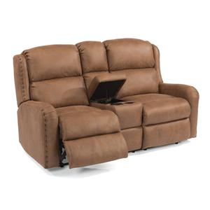 Flexsteel Cameron Power Reclining Loveseat w/ Console