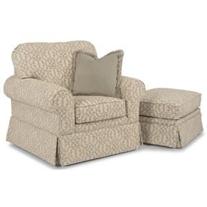 Flexsteel Camilla Chair and Ottoman Set