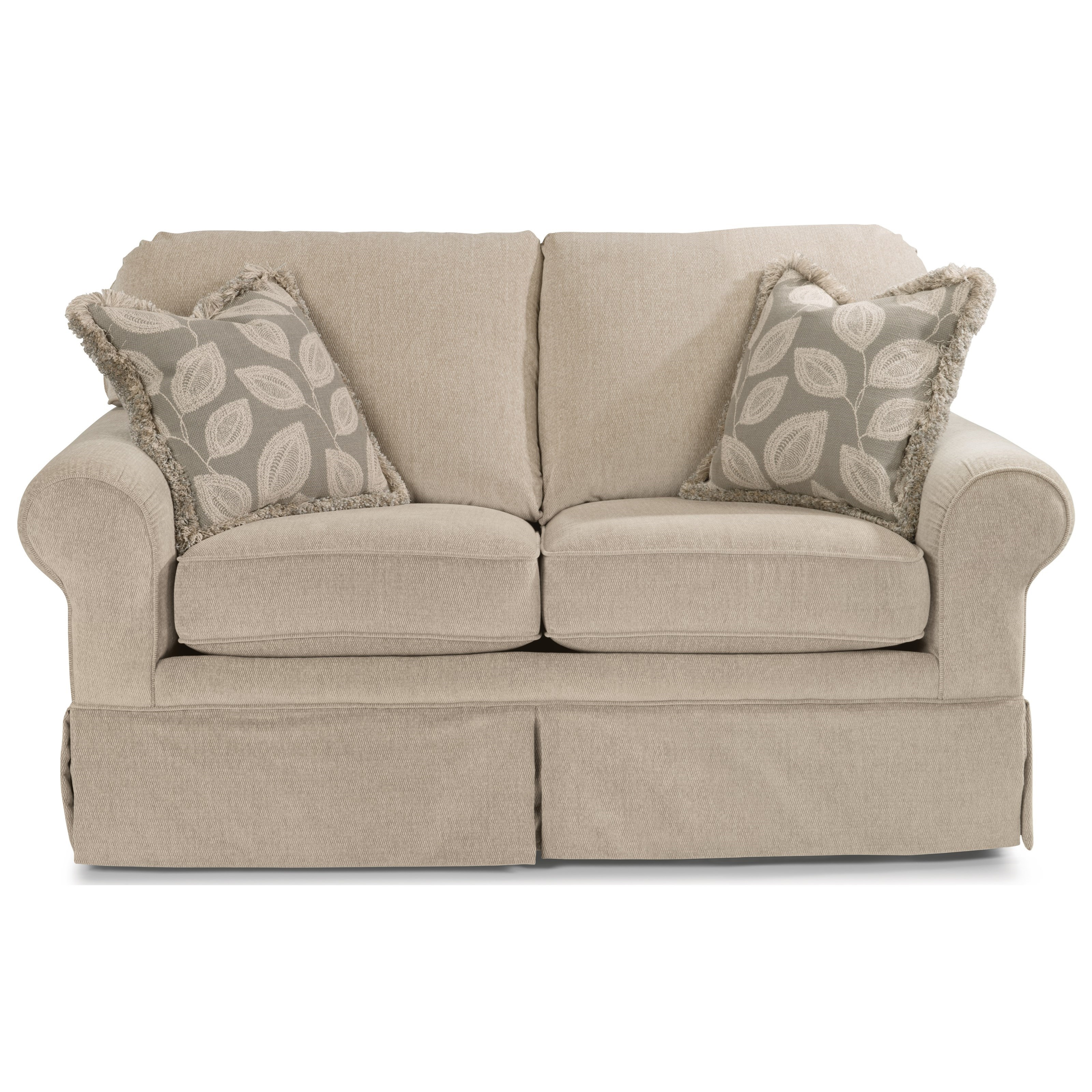 Flexsteel Camilla Casual Loveseat With Skirted Base