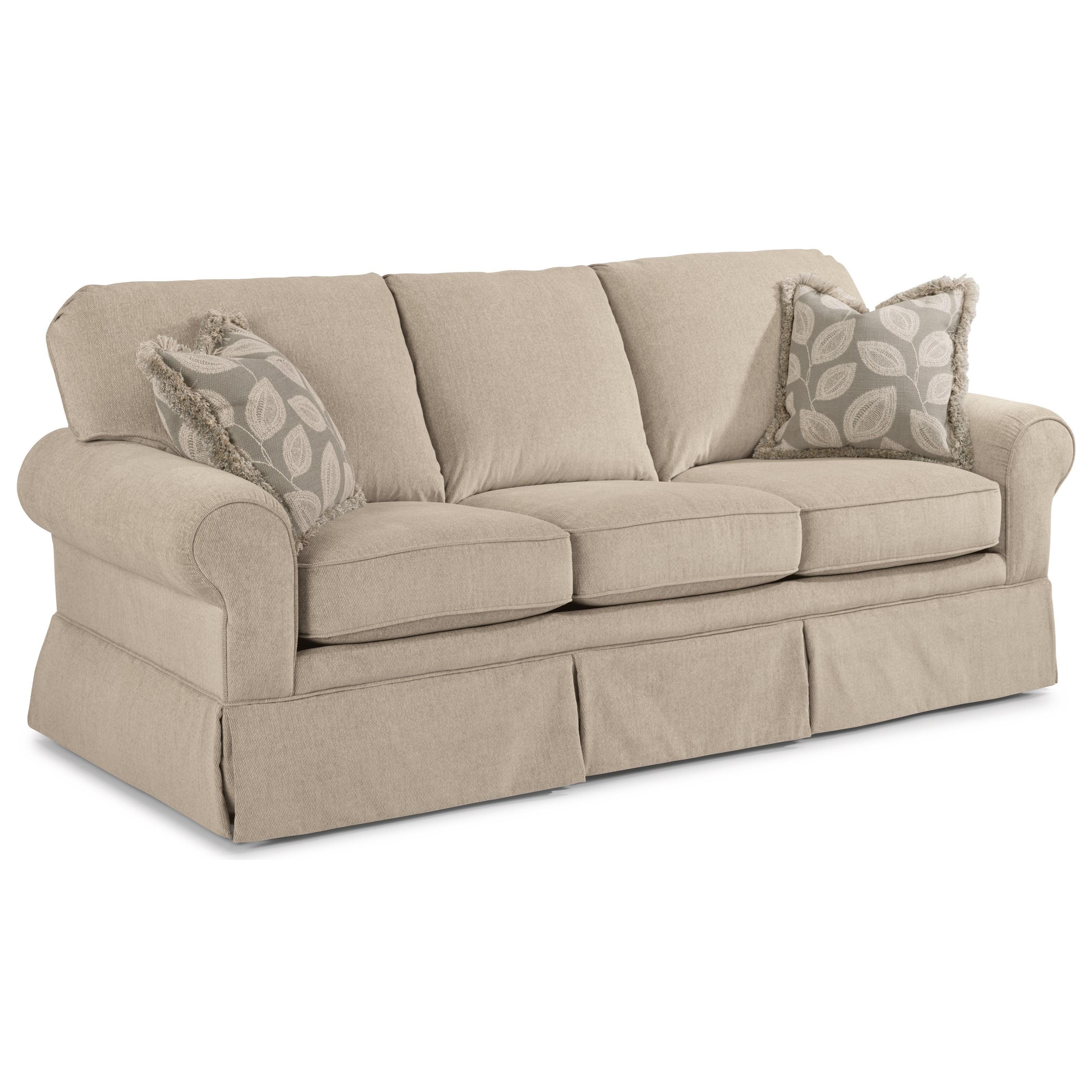 Flexsteel Furniture Telephone Number: Flexsteel Camilla Casual Sofa With Skirted Base