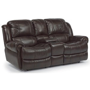 Flexsteel Capitol Power Love Seat with Console