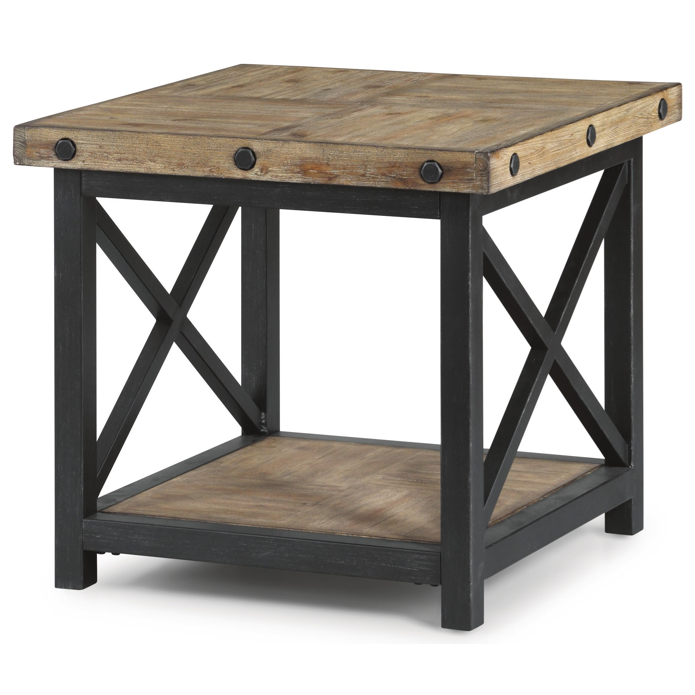 Carpenter Square End Table by Flexsteel Wynwood Collection at Northeast Factory Direct