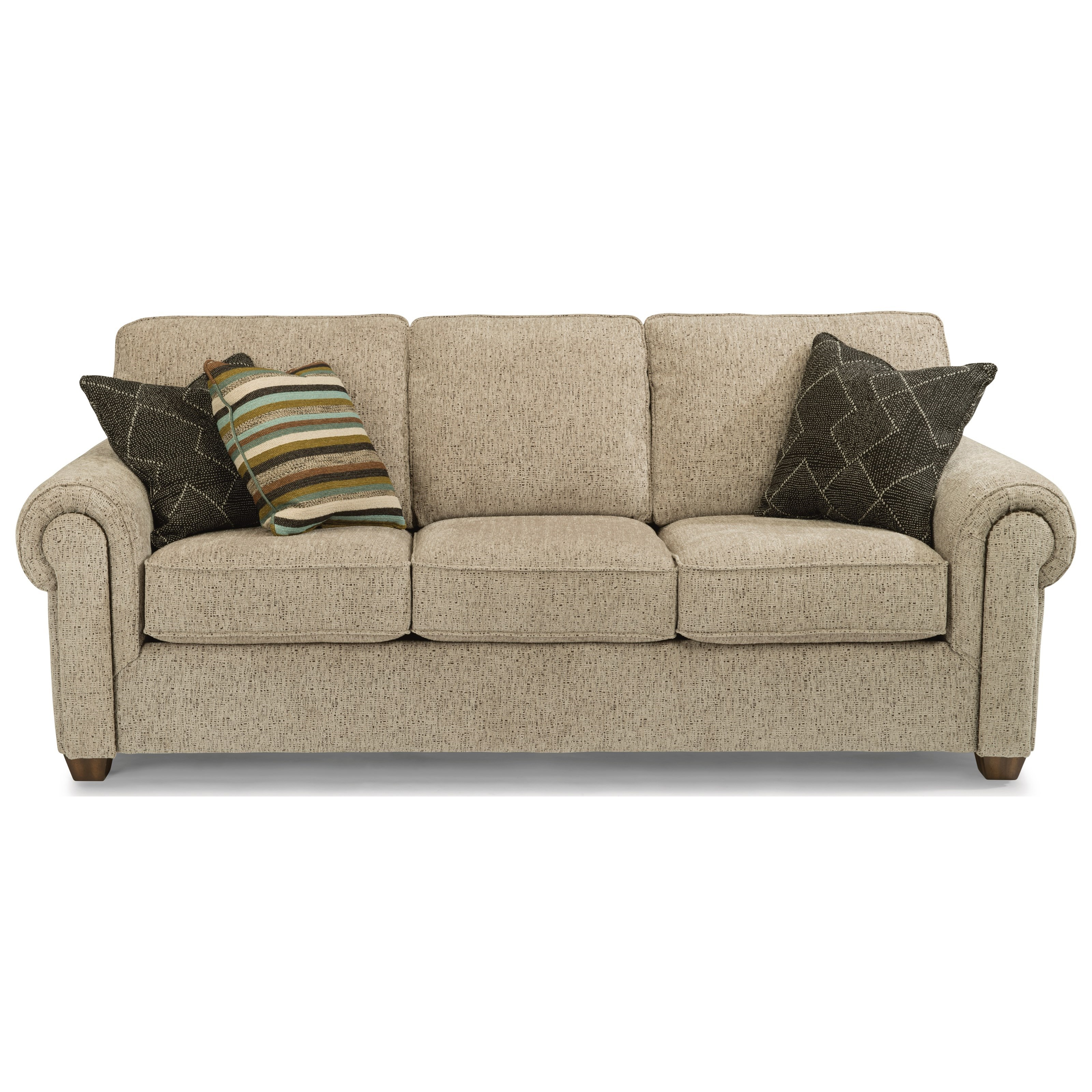 Flexsteel Carson Customizable Sofa With Rolled Arms Wayside