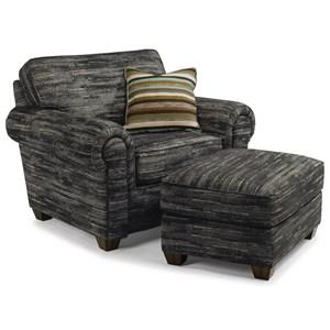 Flexsteel Carson Chair and Ottoman Set