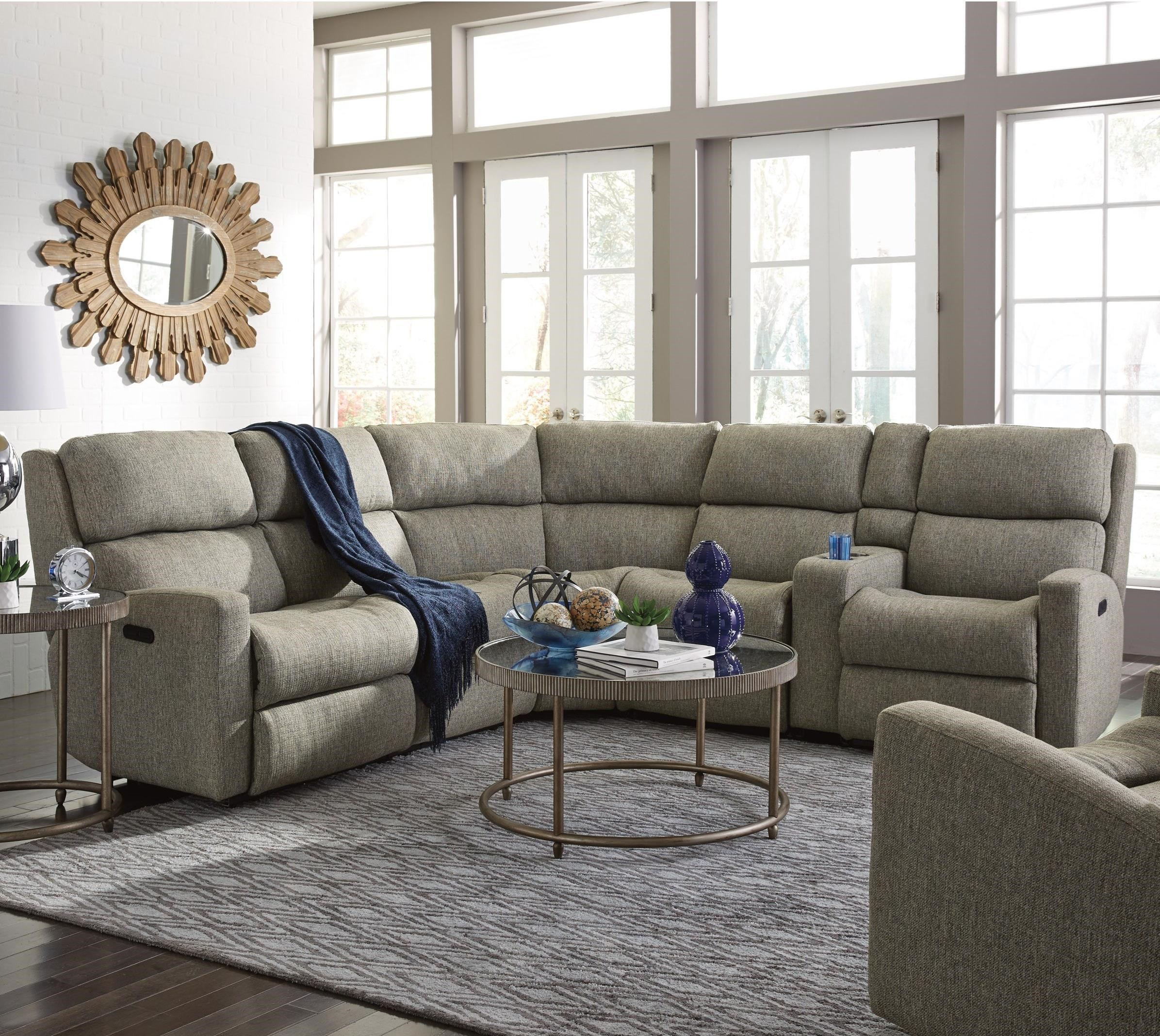 Flexsteel Catalina 6 Pc Reclining Sectional Sofa - Item Number: 2900-57+59+23+19+72+58
