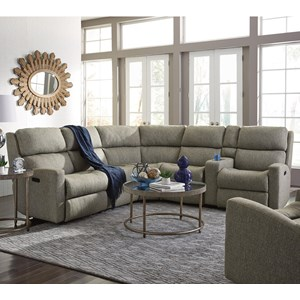 Flexsteel Catalina 6 Pc Reclining Sectional Sofa