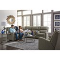 Flexsteel Catalina Six Piece Power Reclining Sectional Sofa with Power Adjustable Headrests and USB Ports