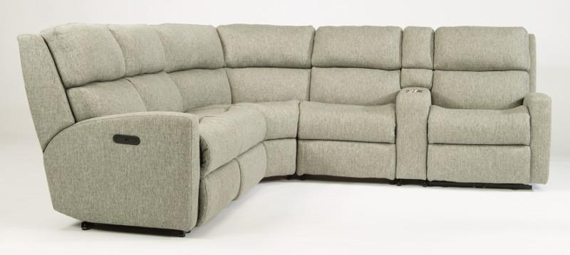 Flexsteel Catalina Power Reclining Sectional - Item Number: 2900-57H+59H+23+19+72+58H-296-01
