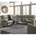 Flexsteel Catalina 6 Pc Reclining Sectional Sofa - Item Number: 2900-57M+59M+23+19+72+58M