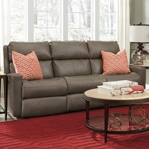 Contemporary Casual Power Reclining Sofa with Power Headrests