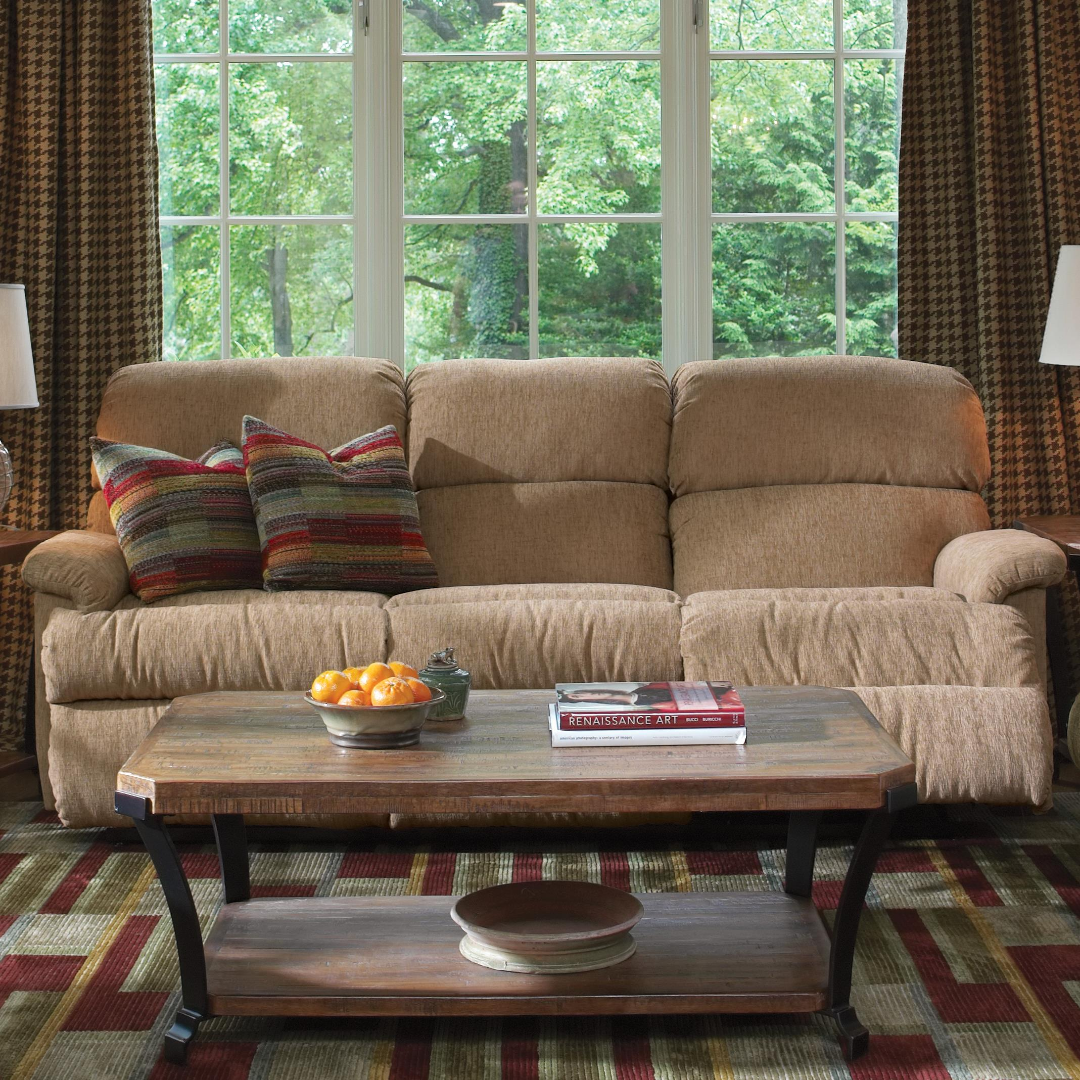 "Flexsteel Chicago 87"" Chicago Double Reclining Sofa - Item Number: 7066-62-530-80"