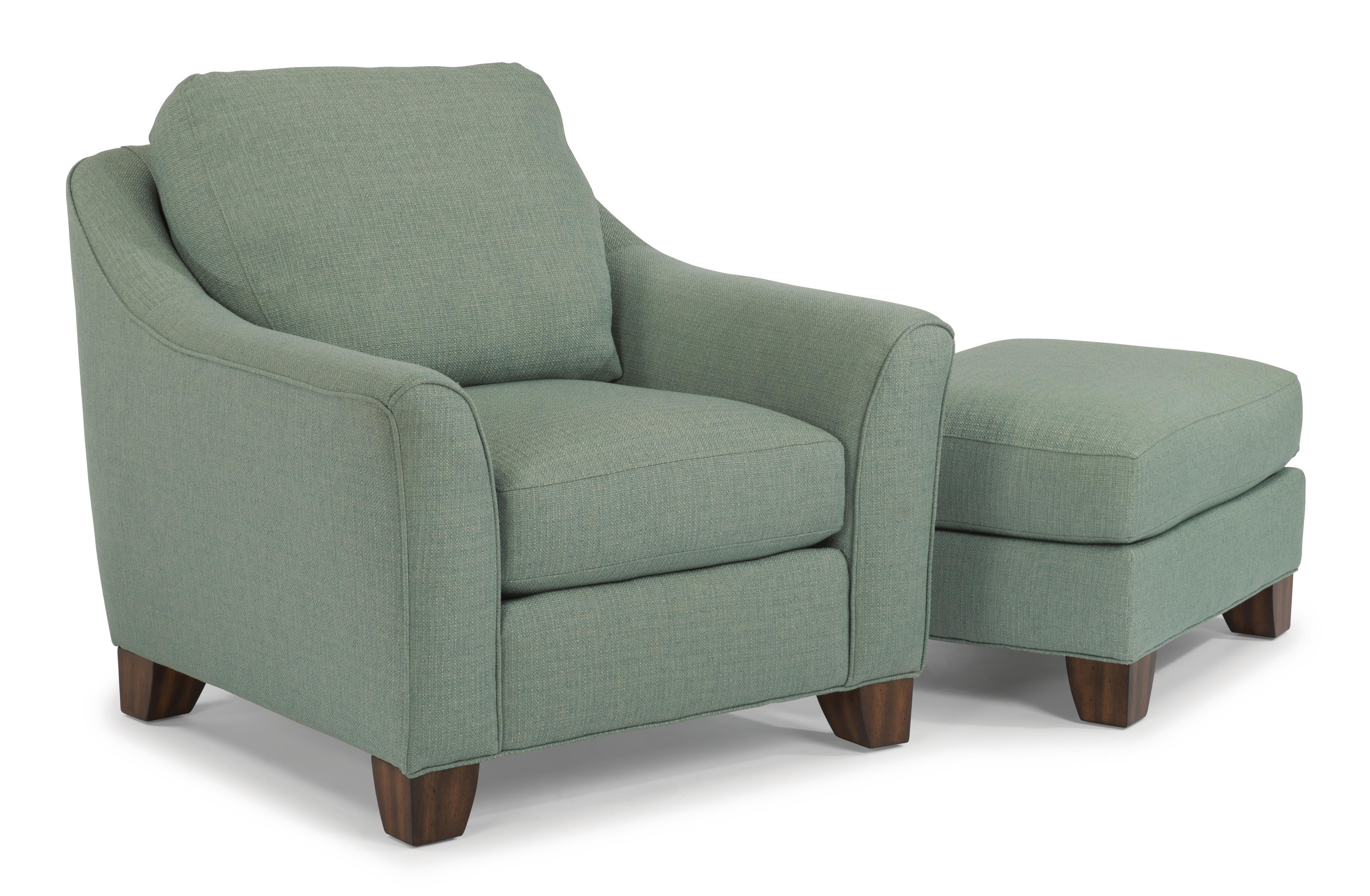 Flexsteel Claudine Chair & Ottoman Set - Item Number: 5687-10+5687-08-145-42