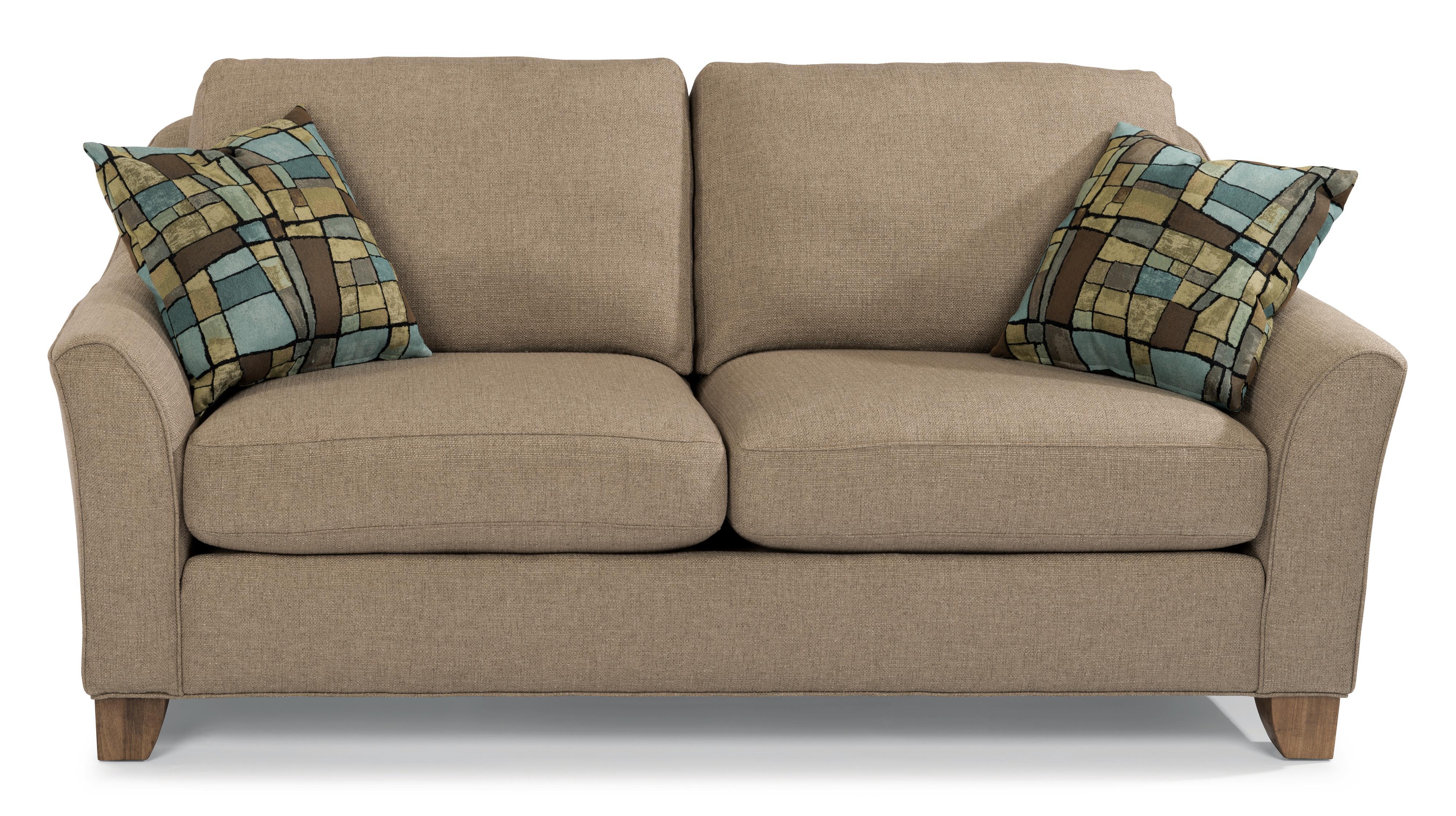 Flex Steel Sofa Flexsteel Sofa With Pillows 657955 Talsma Furniture Thesofa